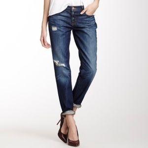 J Brand Slouch Boyfriend Distressed Jeans